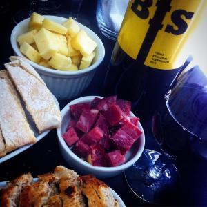 Primeira foto que compartilhamos referente a um evento que fomos: beberete na Garage Vinhos.
