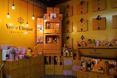 Para quem gosta de luxo: espaço Veuve Clicquot na Boccati, em Caxias.