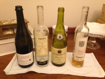 Os vinhos da noite, revelados ao final da degustação.