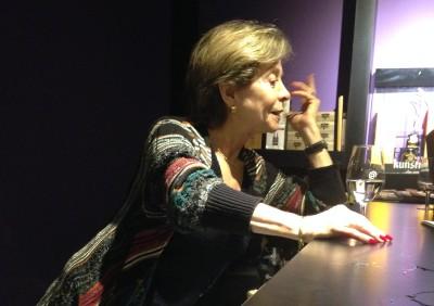 Sra. Marin, simática e genial na sua contribuição para o vinho chileno.